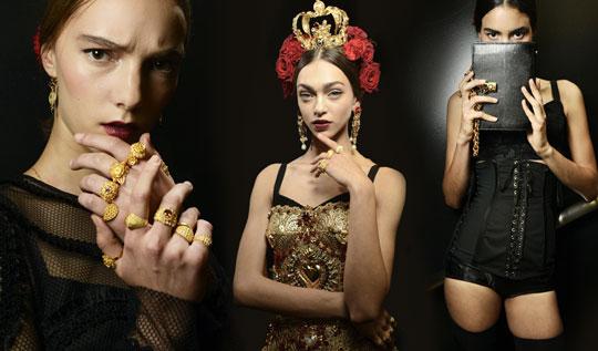 models-backstage-dolce-and-gabbana-spring-summer-2