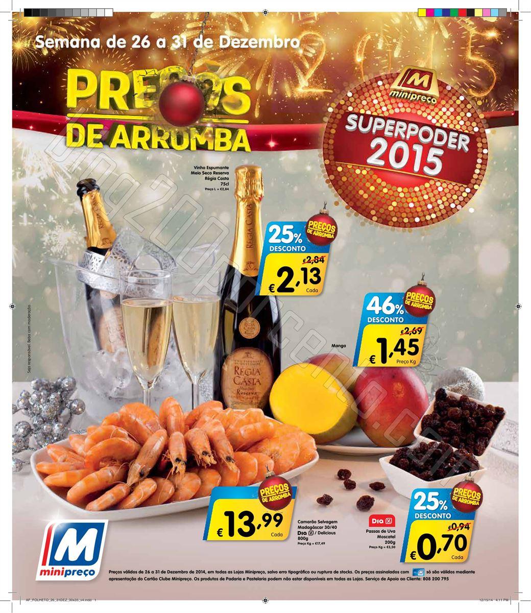 Antevisão Folheto MINIPREÇO de 26 a 31 dezembro