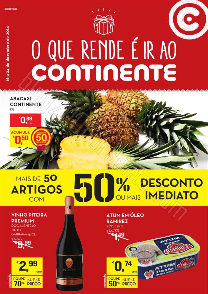 Antevisão Folheto CONTINENTE promoções de 16 a