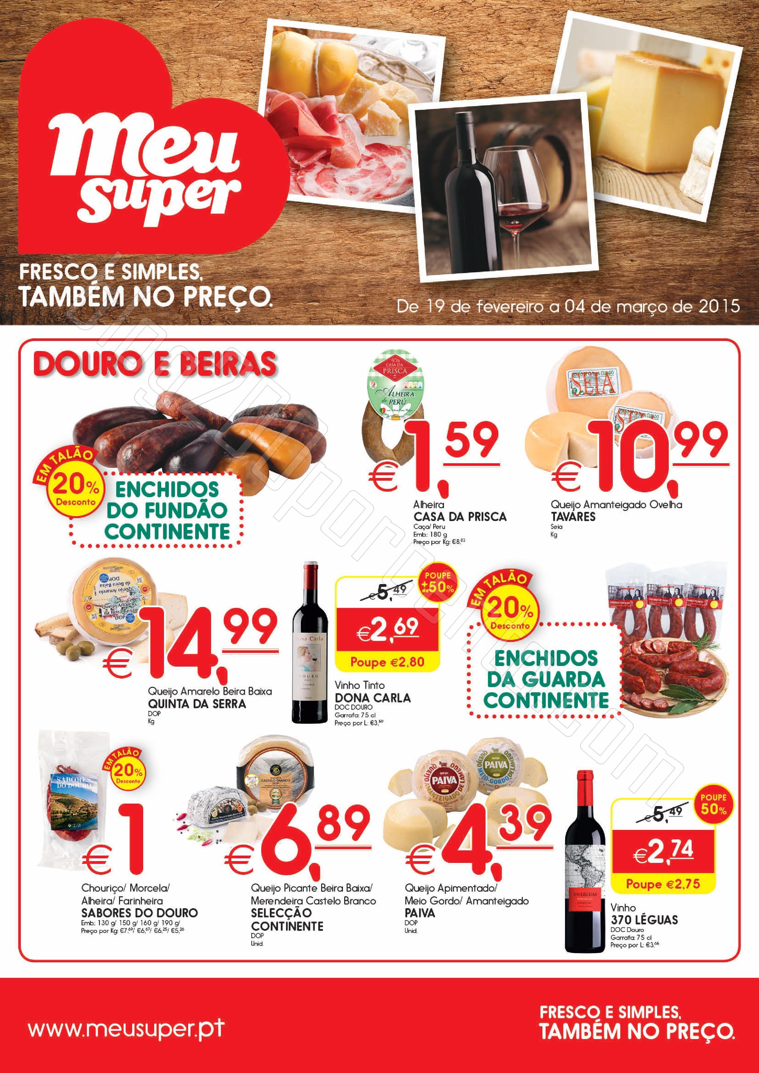 Novo Folheto MEU SUPER Promoções de 19 fevereiro