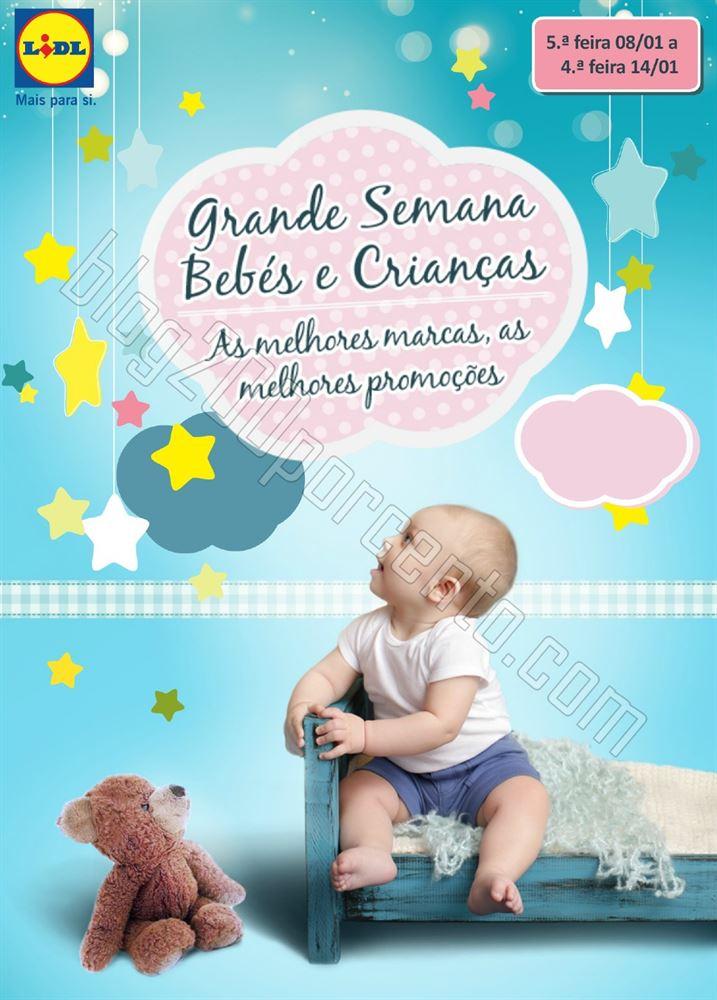 Antevisão Folheto LIDL Bebés e Crianças de 8 a