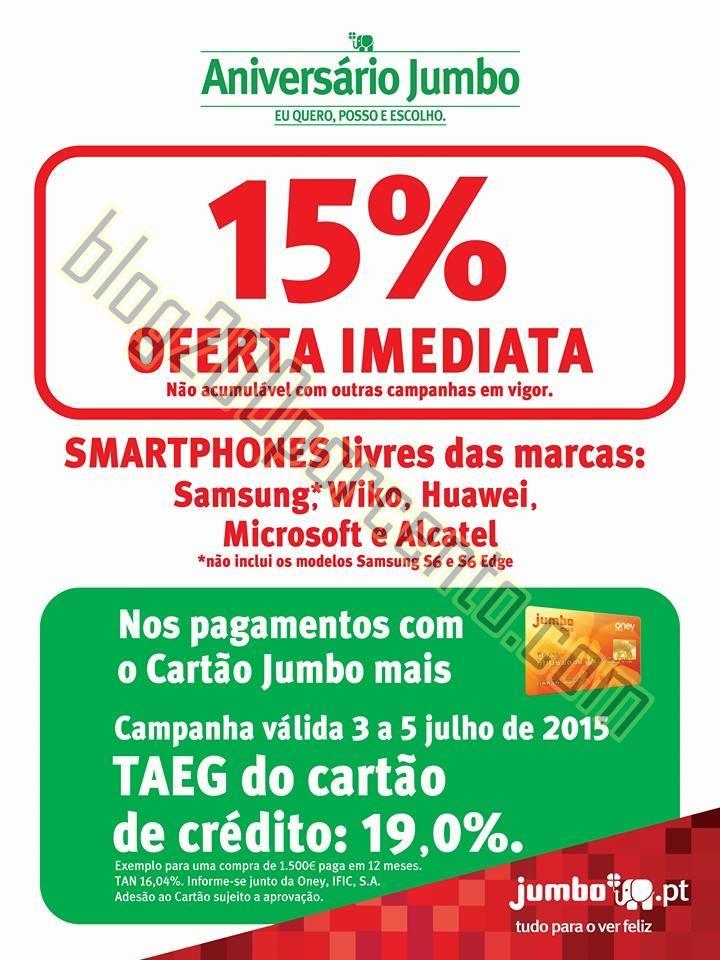 15% de desconto JUMBO - BOX Promoções de 3 a 5 j