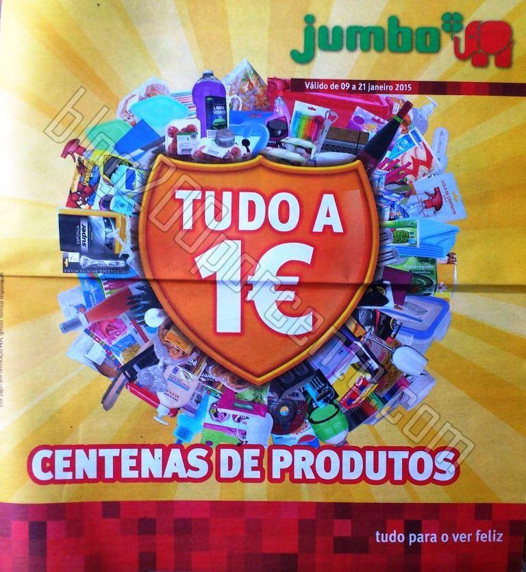 Antevisão Folheto JUMBO Tudo a 1€ de 9 a 21 jan