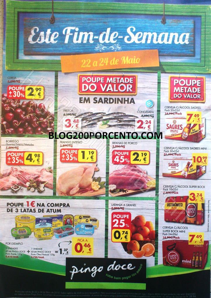 Antevisão Folheto PINGO DOCE Fim de semana de 22