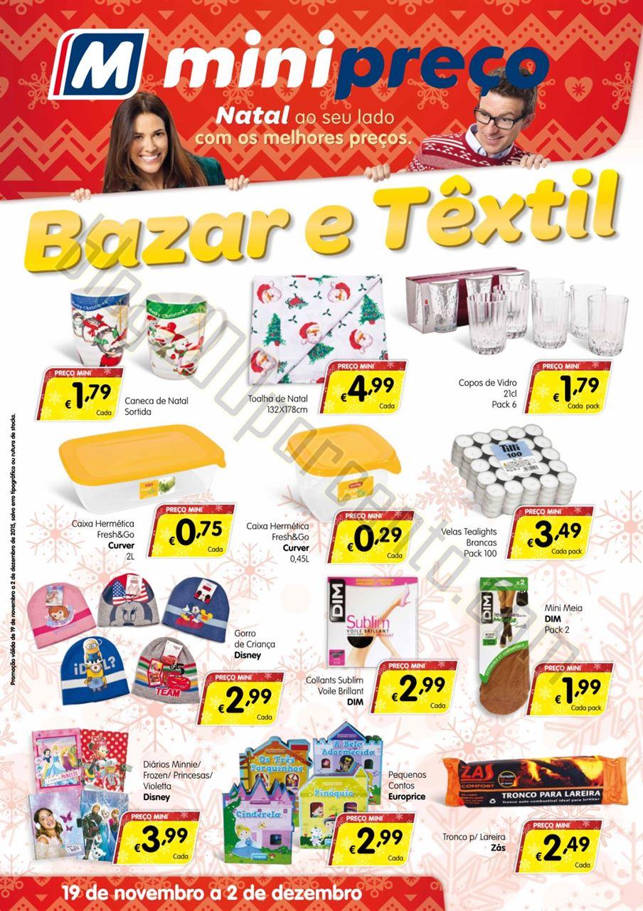 Antevisão Folheto MINIPREÇO Bazar de 19 novembro