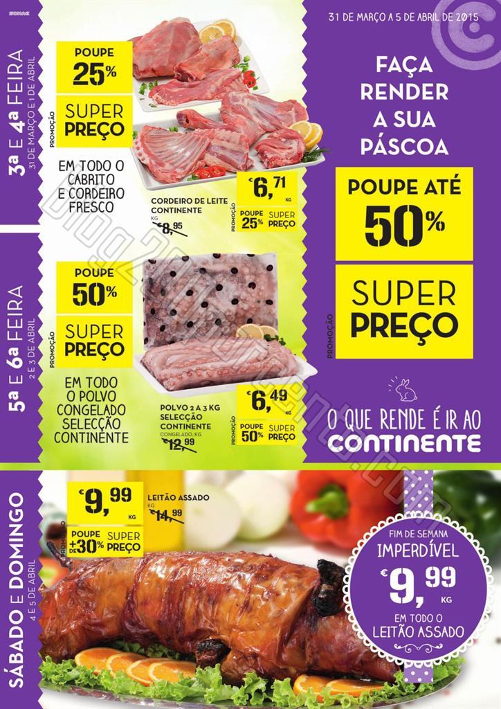 Antevisão Folheto CONTINENTE Extra de 31 março a
