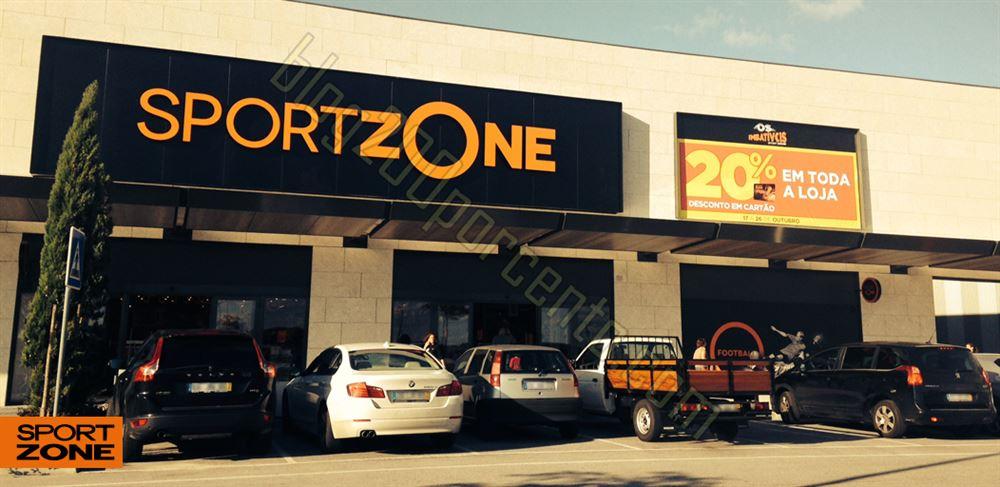 20% de desconto em toda a loja SPORT ZONE Évora a