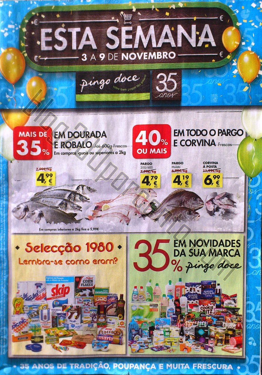 Antevisão Folheto PINGO DOCE promoções de 3 a 9 novembro