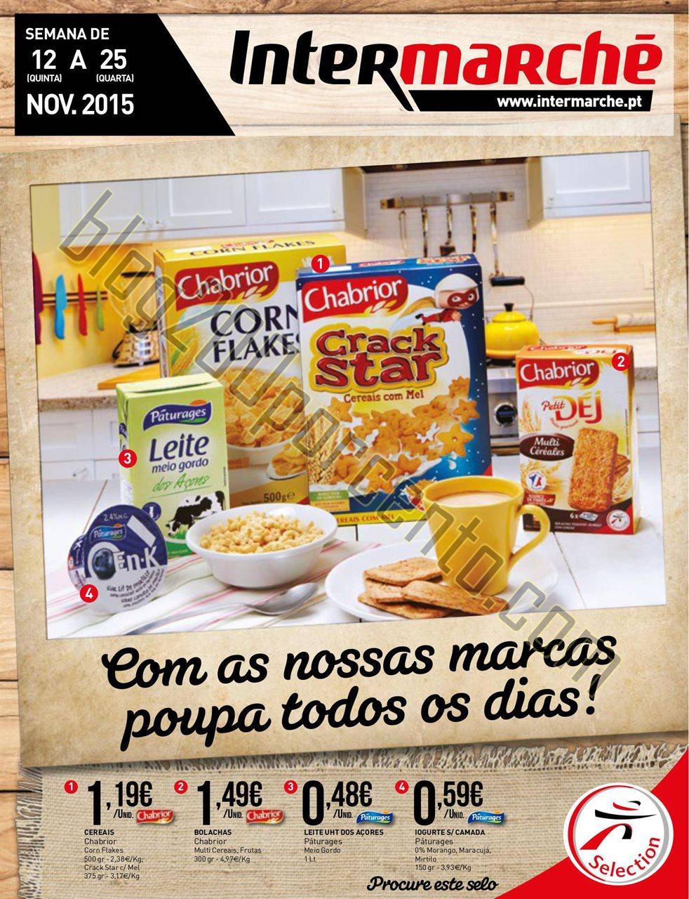 Antevisão Folheto Marcas Intermarché 12 novembro