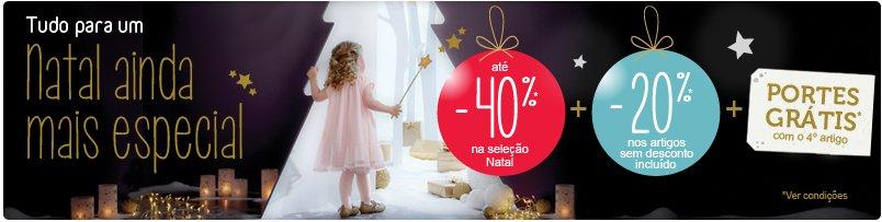 Até 40% de desconto   VERTBAUDET   Campanha de Natal