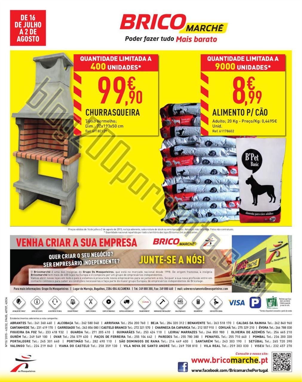 Novo Folheto BRICOMARCHÉ Promoções de 16 julho