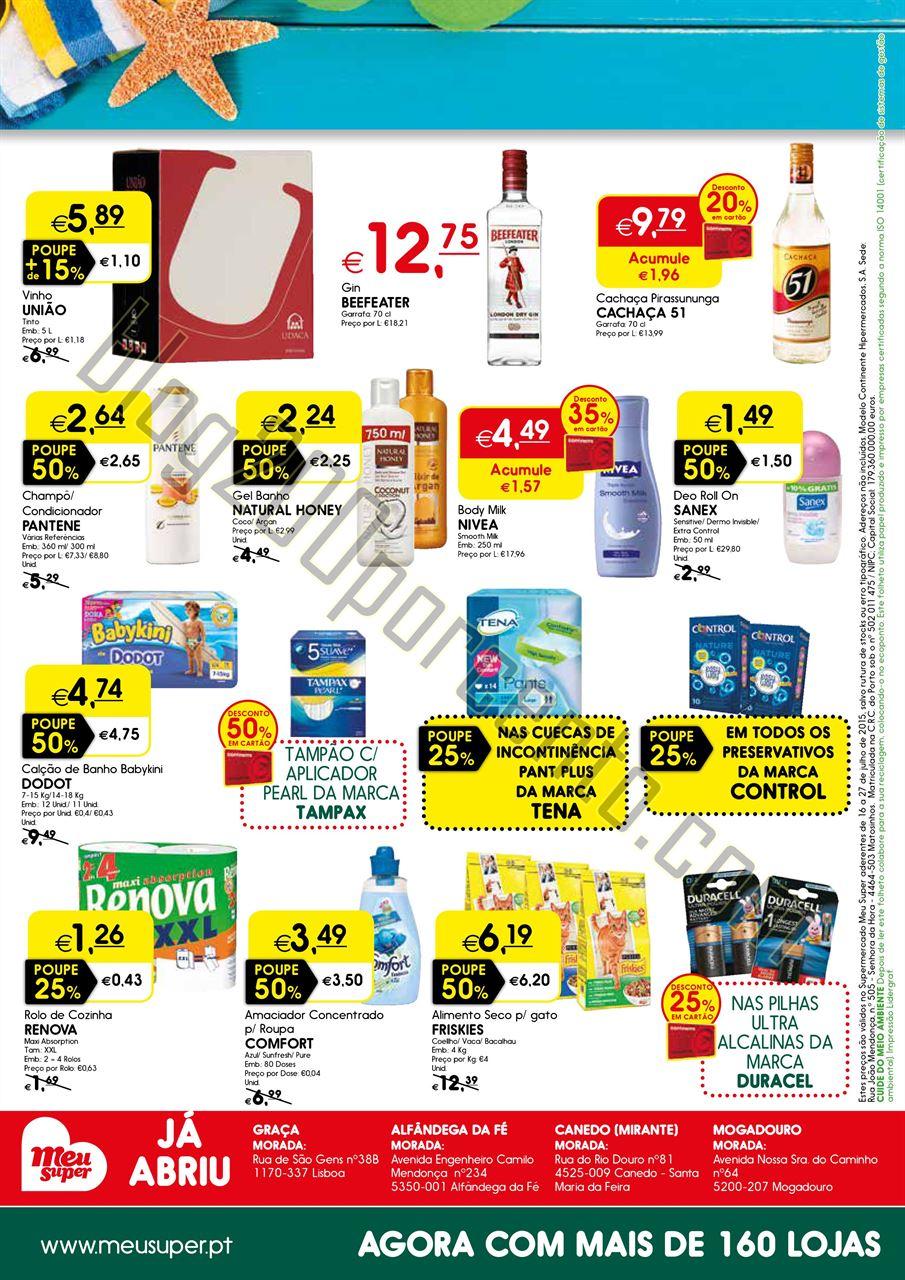 Novo Folheto MEU SUPER Promoções de 16 a 27 julh