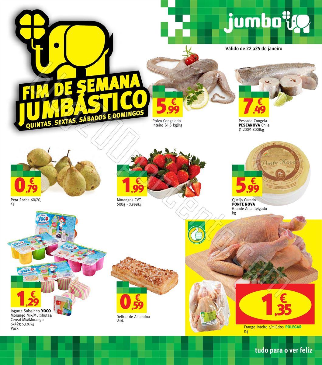 Novo Folheto JUMBO Fim de Semana de 22 a 25 janeir