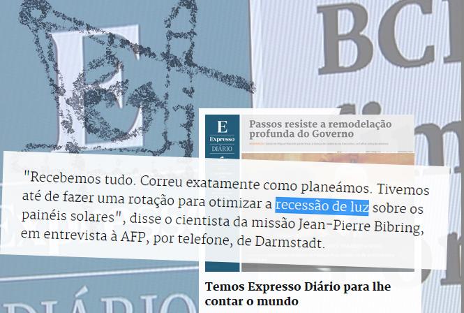 «Philae conseguiu enviar dados do cometa antes de ficar sem bateria», Saco de Plástico, 16/XI/14.