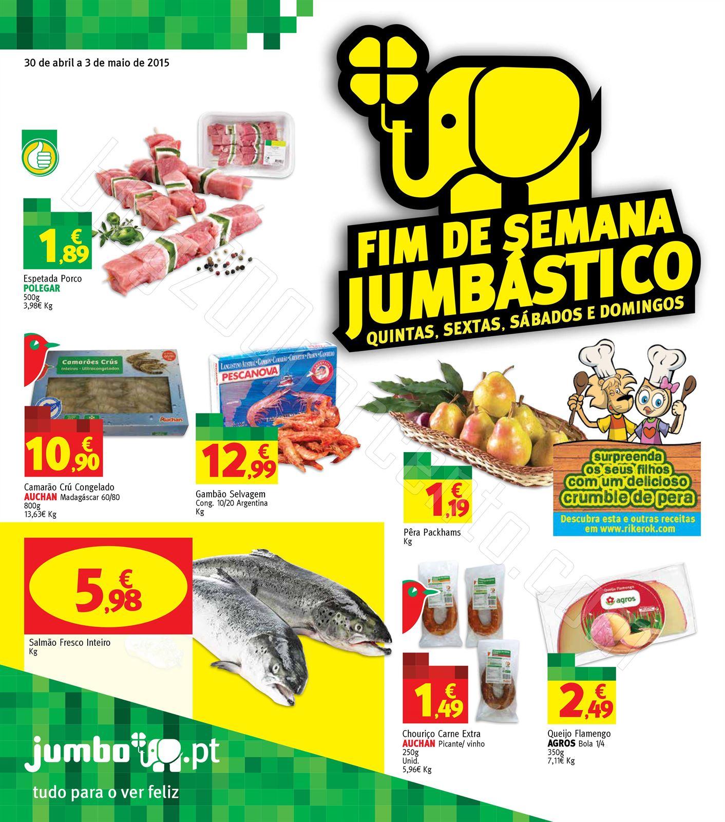 Antevisão Folheto JUMBO Fim de semana de 30 abril