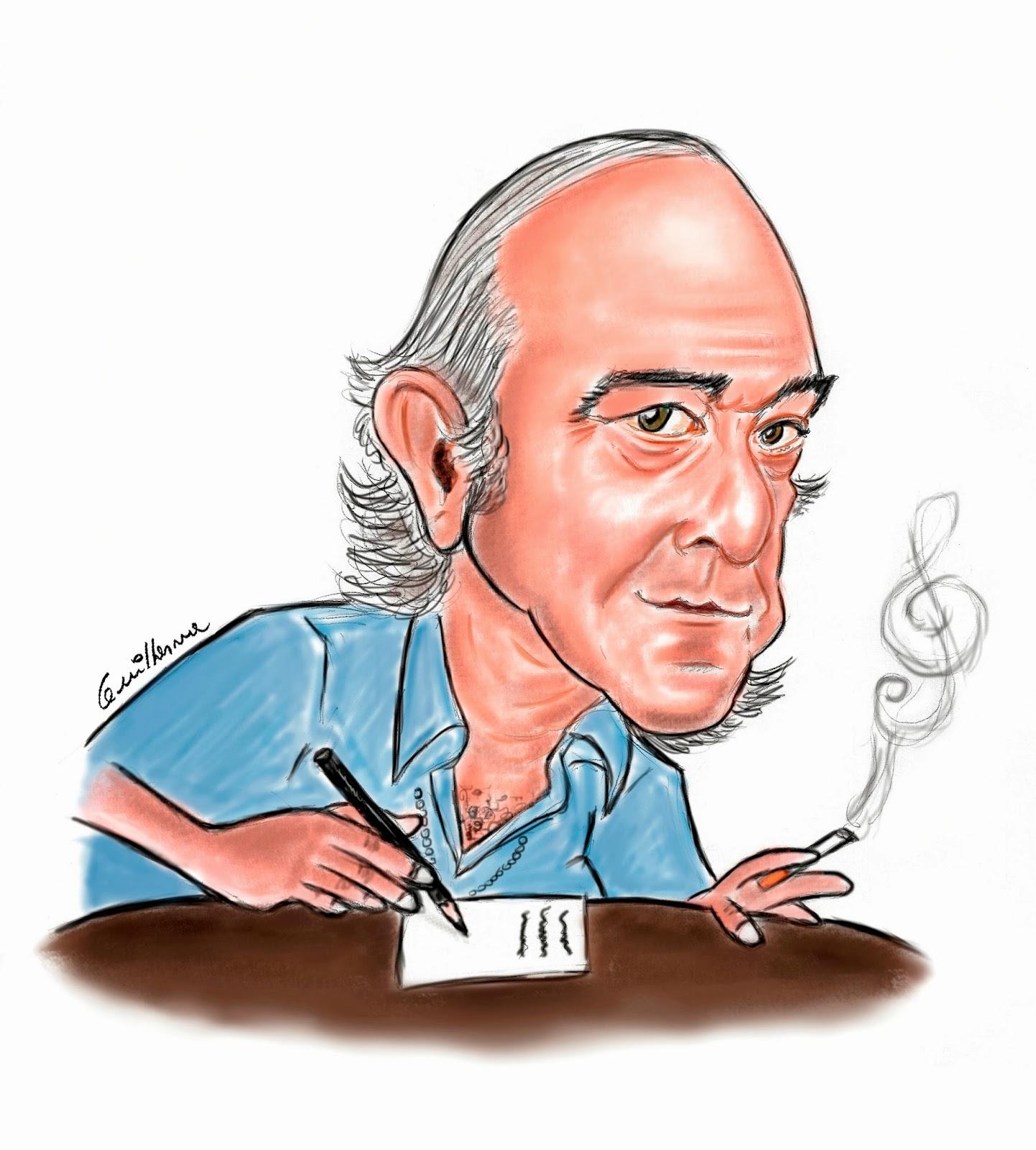 Vinícius de Moraes - Caricatura Brasil