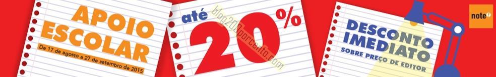 Até 20% desconto NOTE de 17 agosto a 27 setembro.