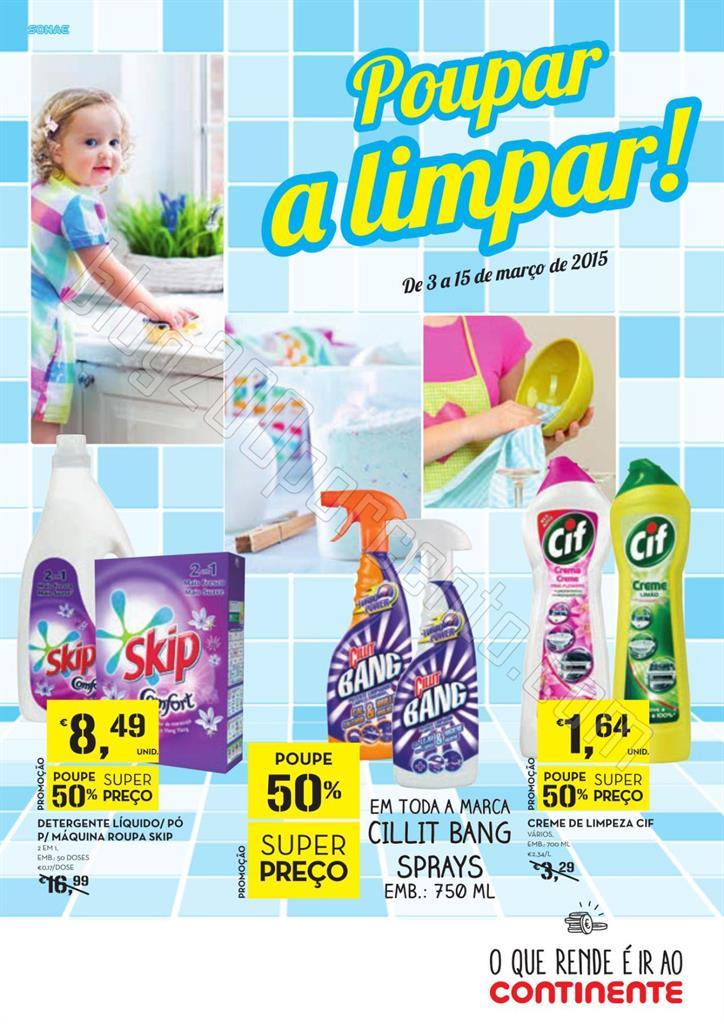 Antevisão Folheto CONTINENTE Limpeza de 3 a 15 ma
