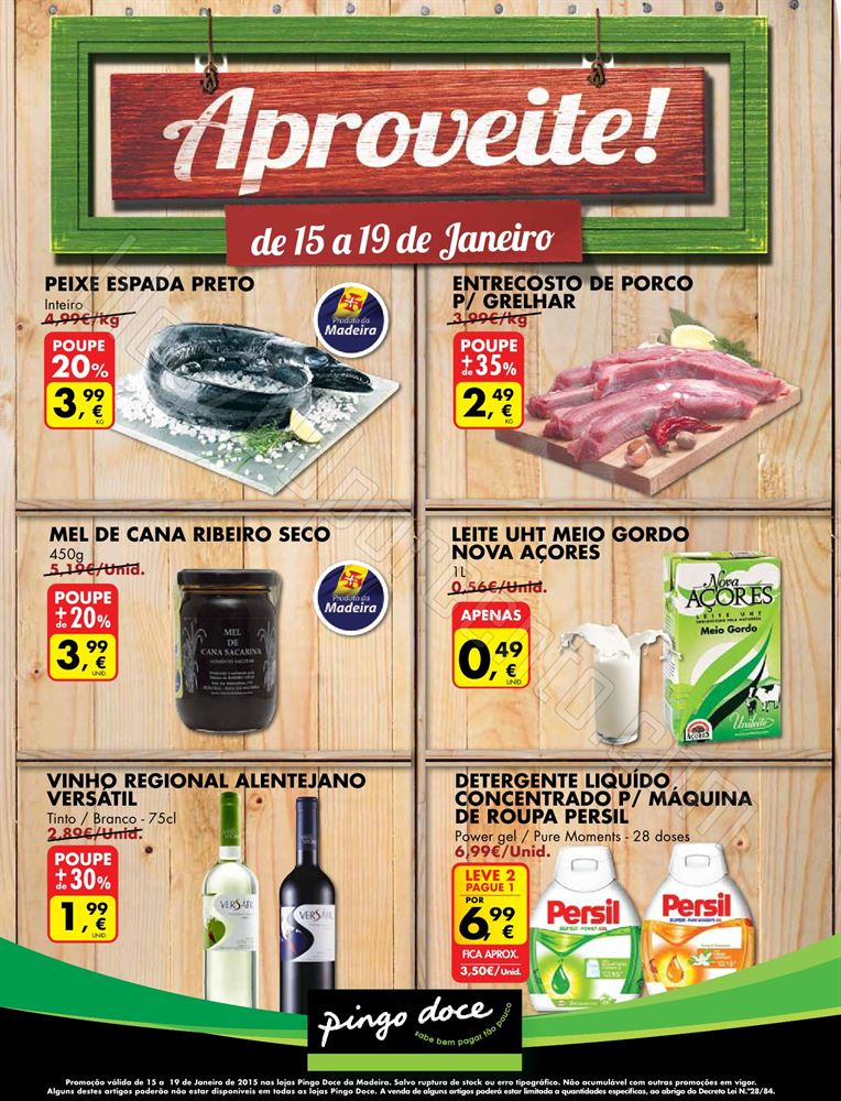 Novo Folheto Promoções PINGO DOCE Madeira de 15