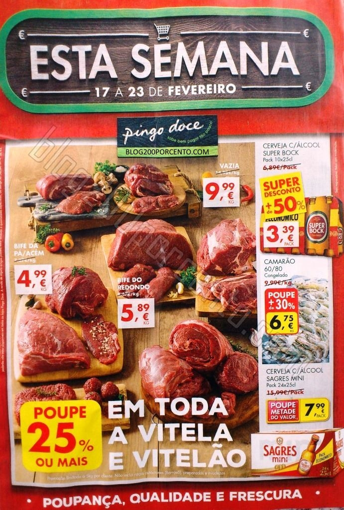 Antevisão Folheto PINGO DOCE promoções de 17 a