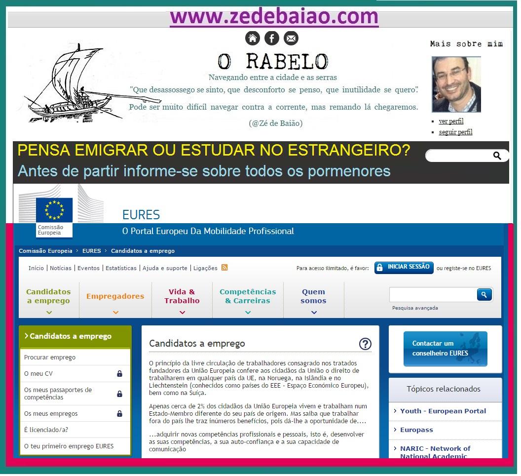 O RABELO_Conselheiros EURES_Para trabalhar ou estudar, informe-se antes de emigrar