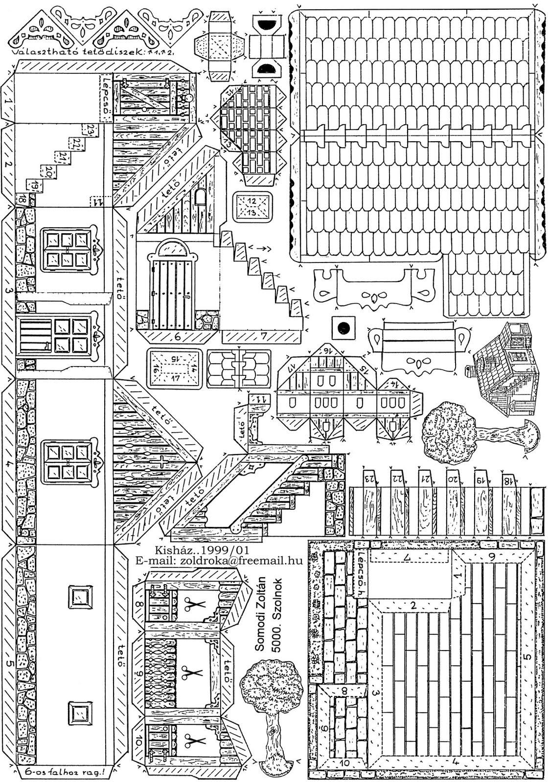 Casas De Papel Para Imprimir E Montar Brinquedos De Papel