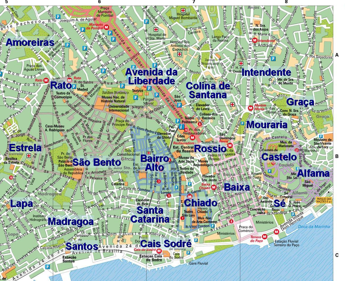 mapa dos bairros de lisboa Morar em Lisboa   quanto custa?   Abra a JanelaAbra a Janela mapa dos bairros de lisboa