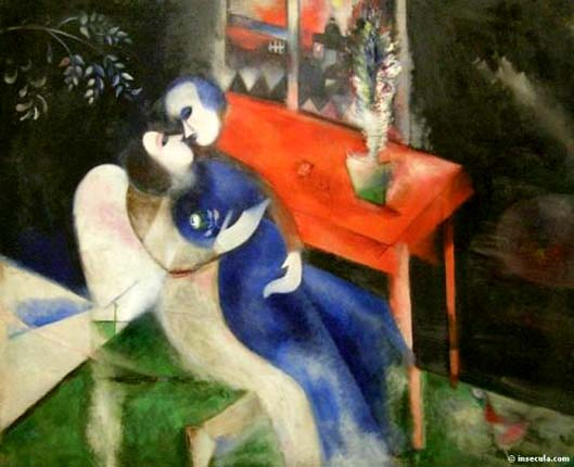 The Lovers,1913-1914 - Marc ChagallThe%20Lovers,19