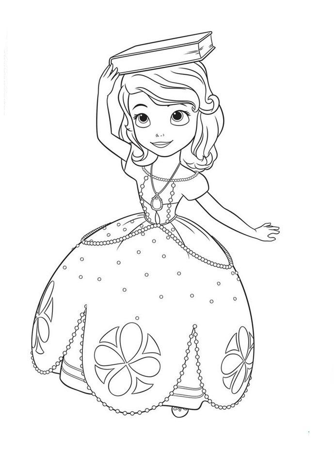 Pinta A Princesa Sofia A Magia Da Disney