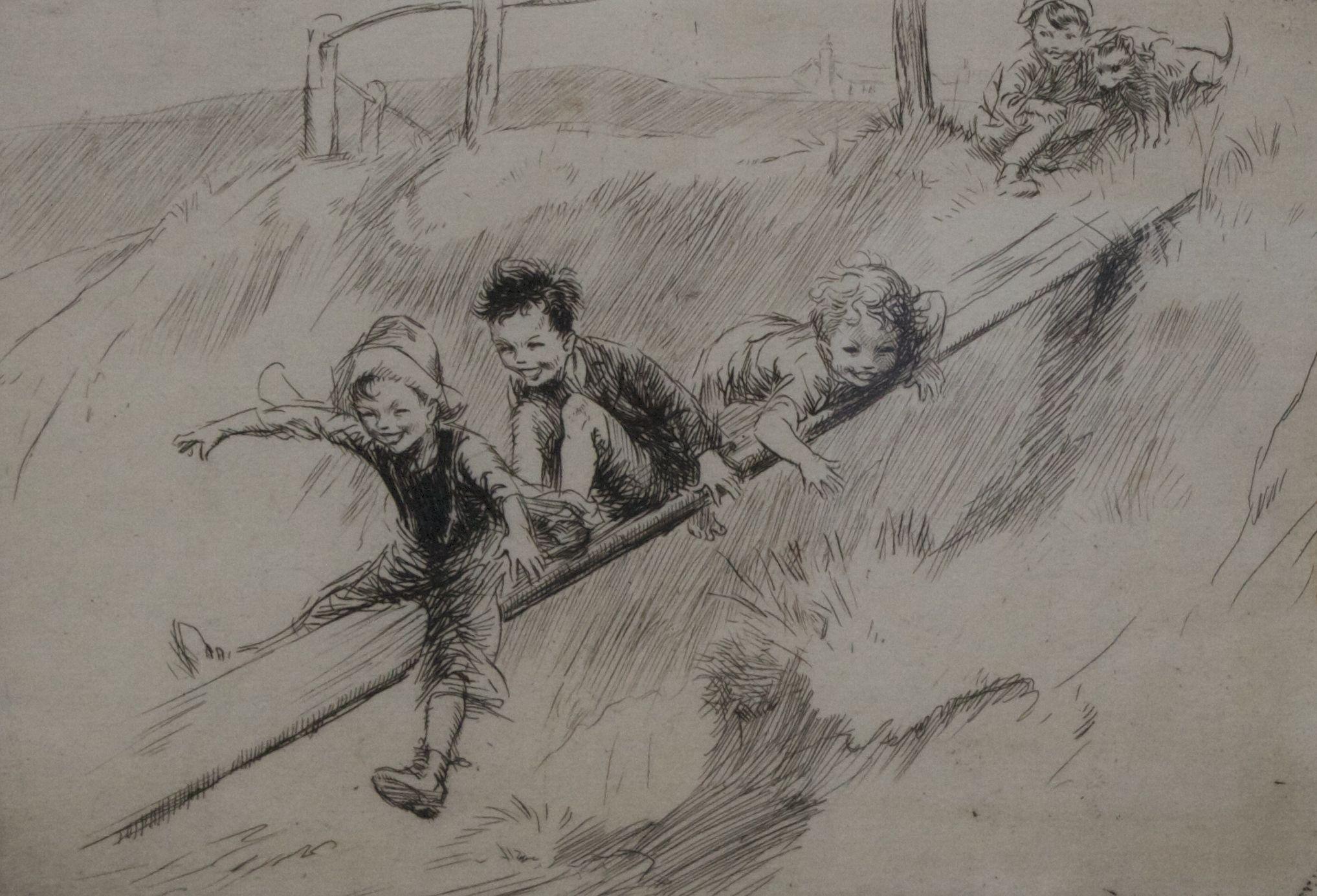 O escorrega, Eileen Soper, c. 1926.