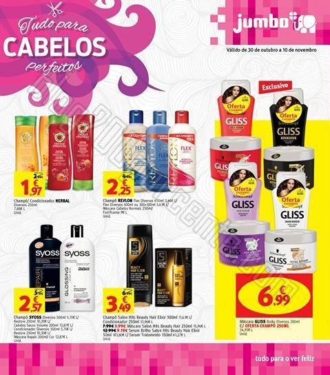 Antevisão Folheto JUMBO produtos para cabelo de 3