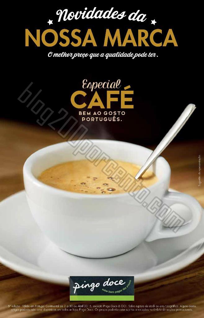 Novo folheto PINGO DOCE Especial Café até 30 abr