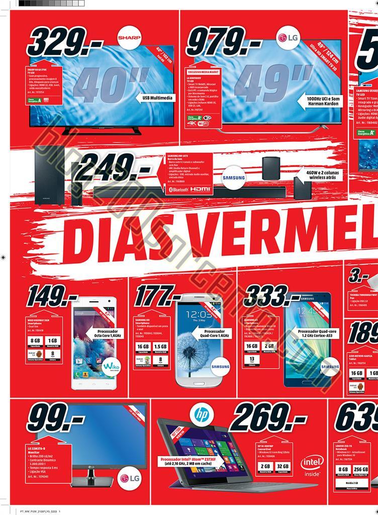 Antevisão Folheto MEDIA MARKT promoções 21 a 24