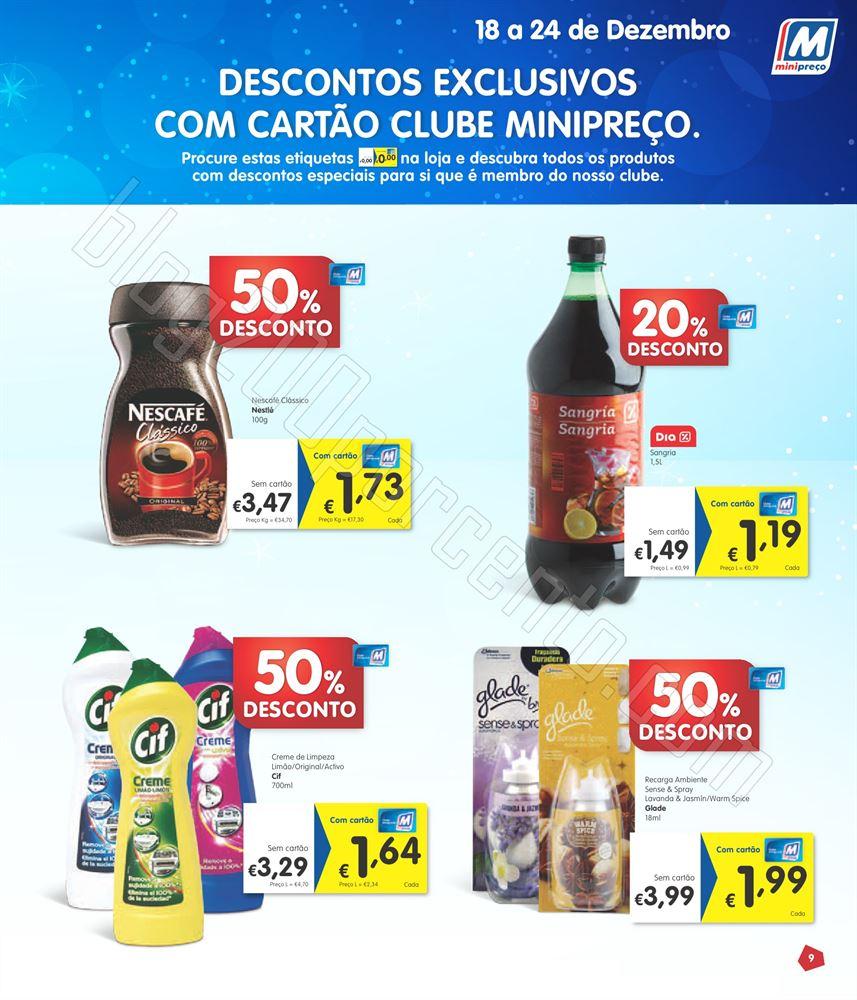 Antevisão Folheto MINIPREÇO Semana Natal de 18 a