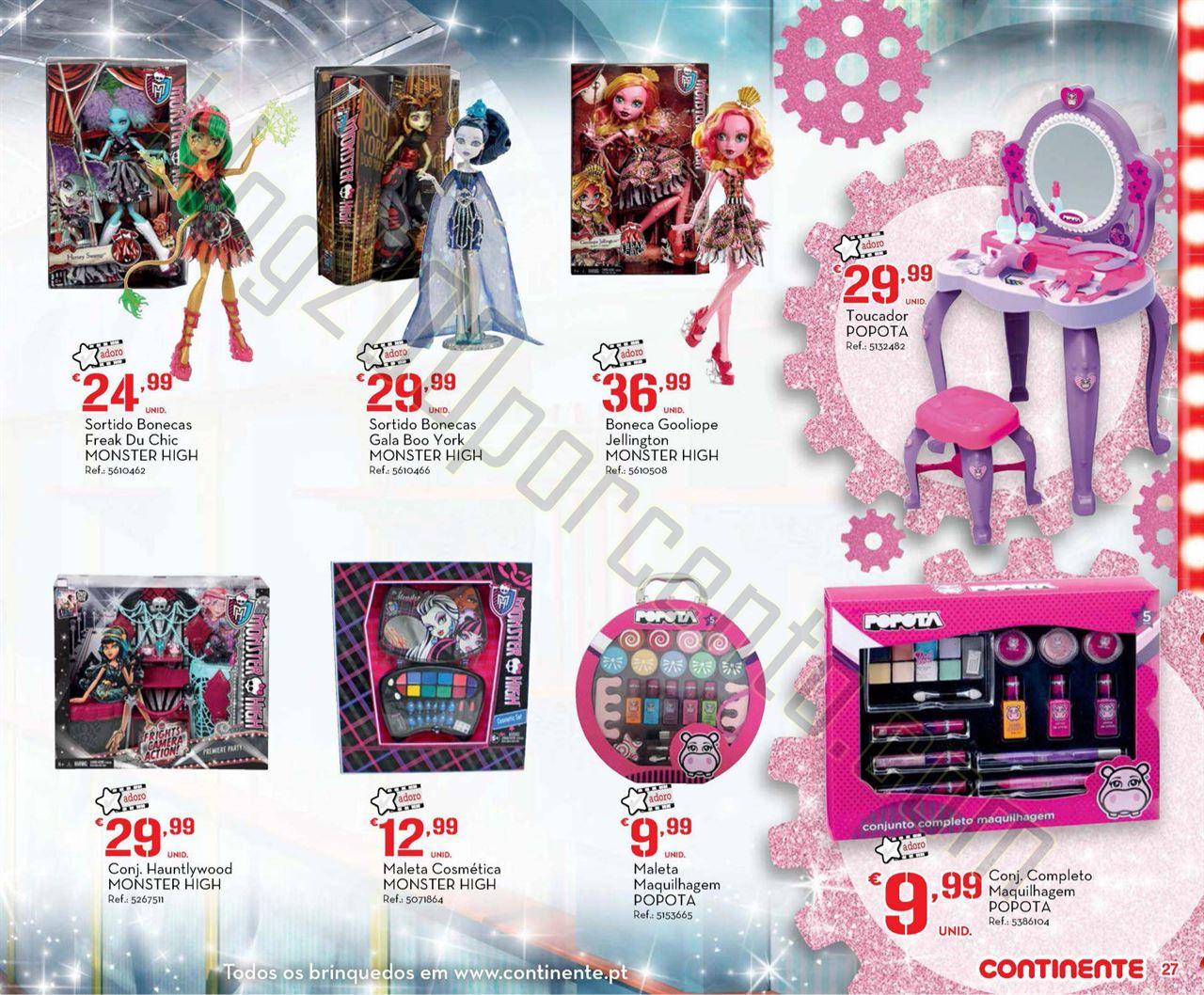 Antevisão Folheto CONTINENTE Brinquedos Natal de