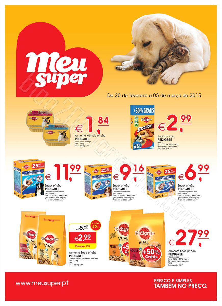 Novo Folheto MEU SUPER Aliemntação Animal de 20
