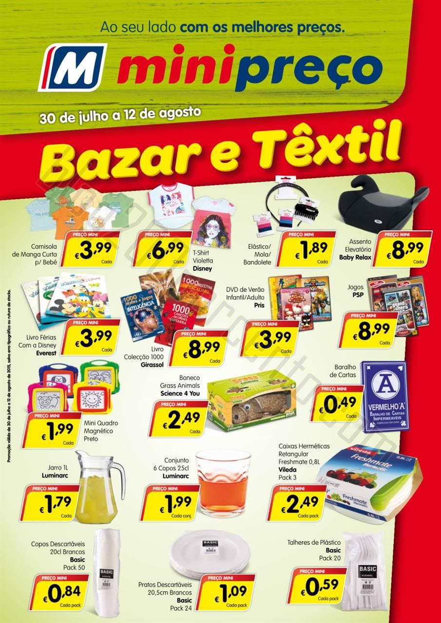 Antevisão Folheto MINIPREÇO Bazar de 30 julho a