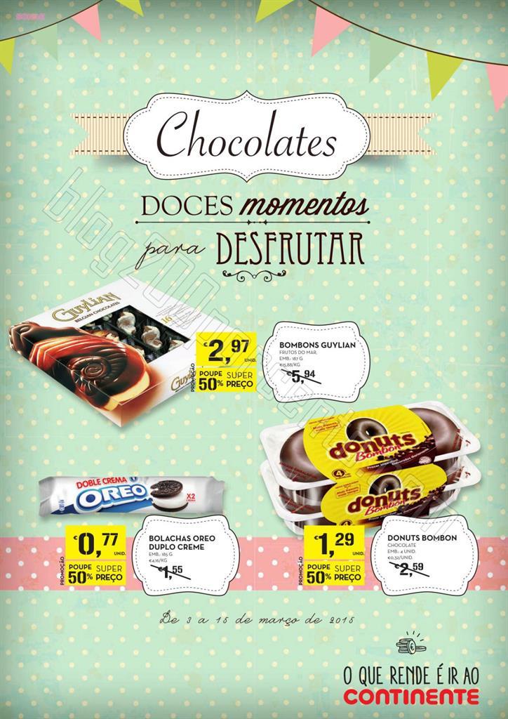 Antevisão Folheto CONTINENTE Chocolates de 3 a 15