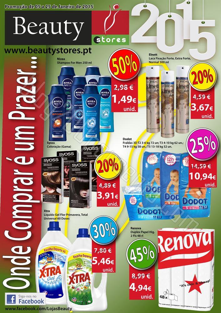 Novo Folheto BEAUTY STORES Promoções de 5 a 25 j