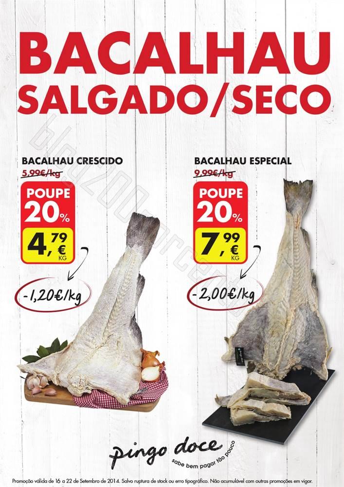 Promoção Bacalhau PINGO DOCE de 16 a 22 setembro