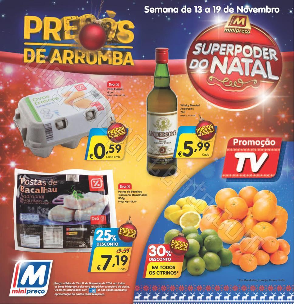 Antevisão Folheto MINIPREÇO de 13 a 19 novembro