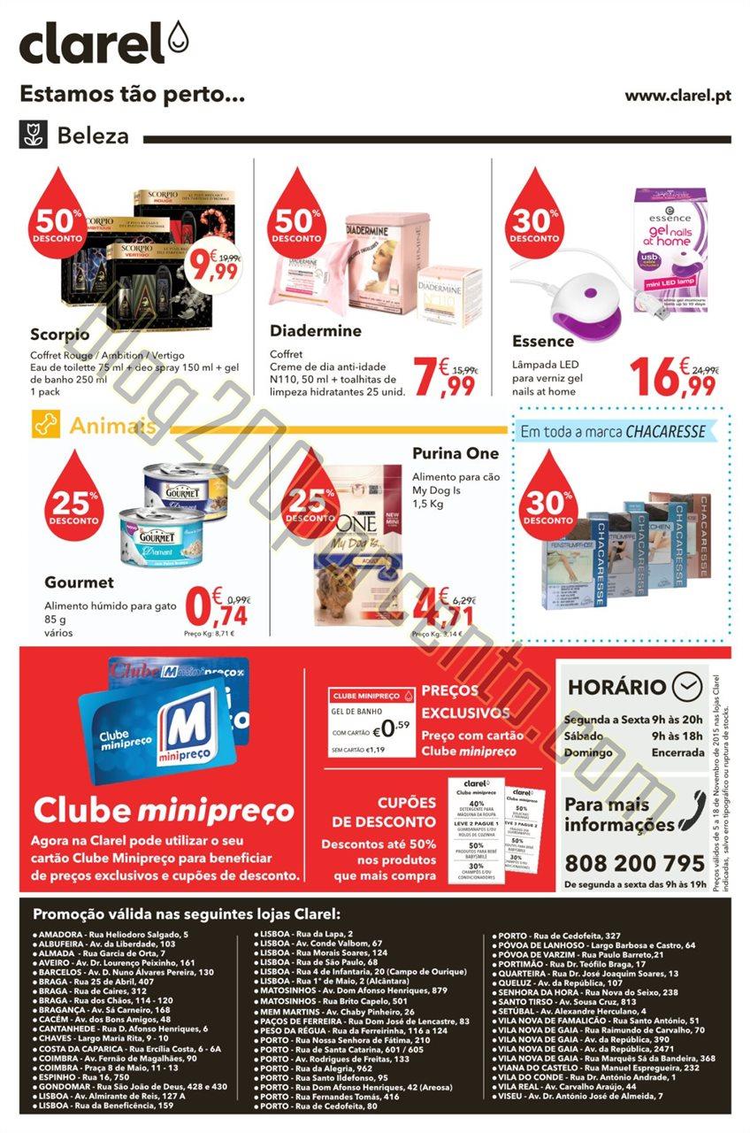 Antevisão folhetoCLAREL promoções de 5 a 18 nov