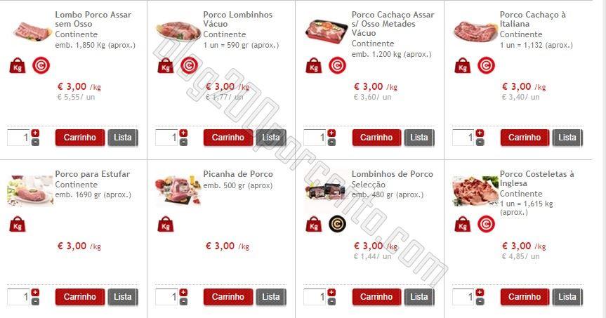 Premonição confirmada CONTINENTE carne de porco a 3€ / kg