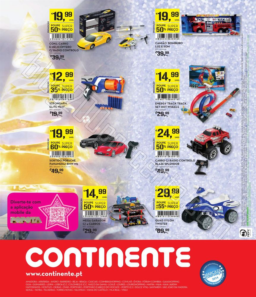Antevisão Folheto CONTINENTE Brinquedos de 2 a 15