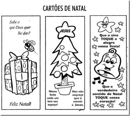 Cartoes De Natal Com Mensagens Para Colorir E Imprimir