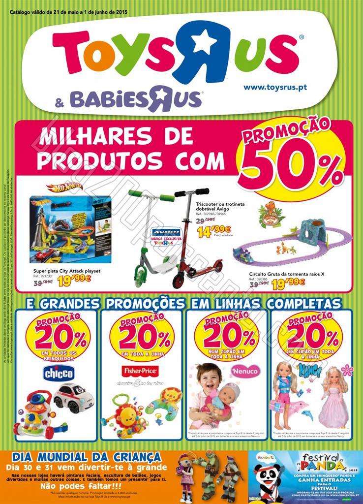Novo Folheto TOYSRUS Dia da Criança de 21 maio a
