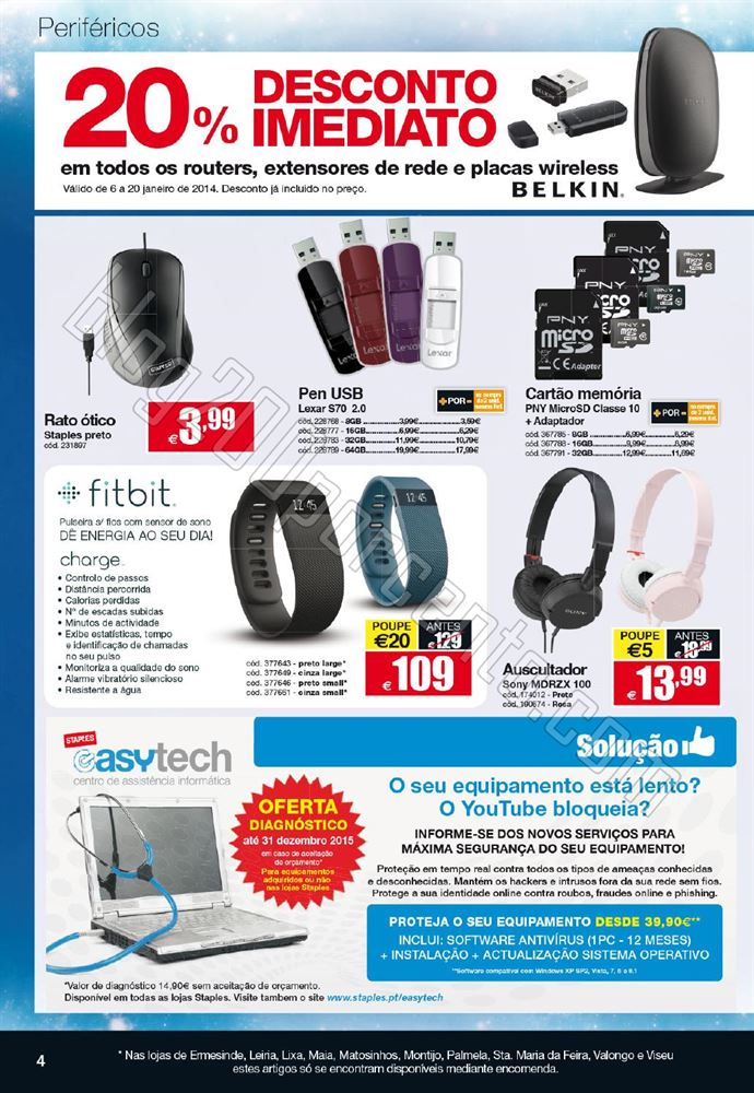 Novo Folheto STAPLES Tecnologia de 6 a 20 janeiro