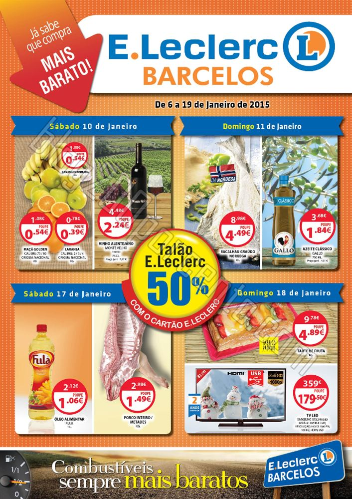 Antevisão Folheto E-LECLERC Barcelos de 6 a 19 ja