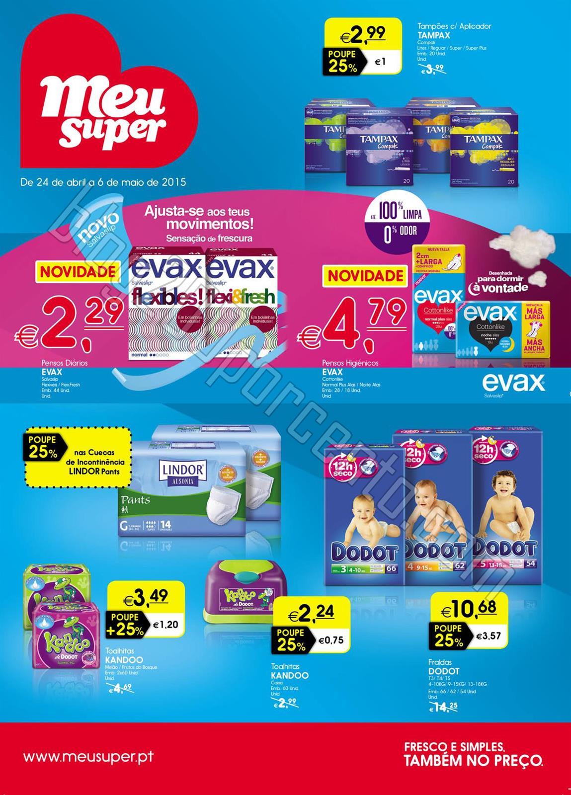 Novo Folheto MEU SUPER Promoções de 24 abril a 6