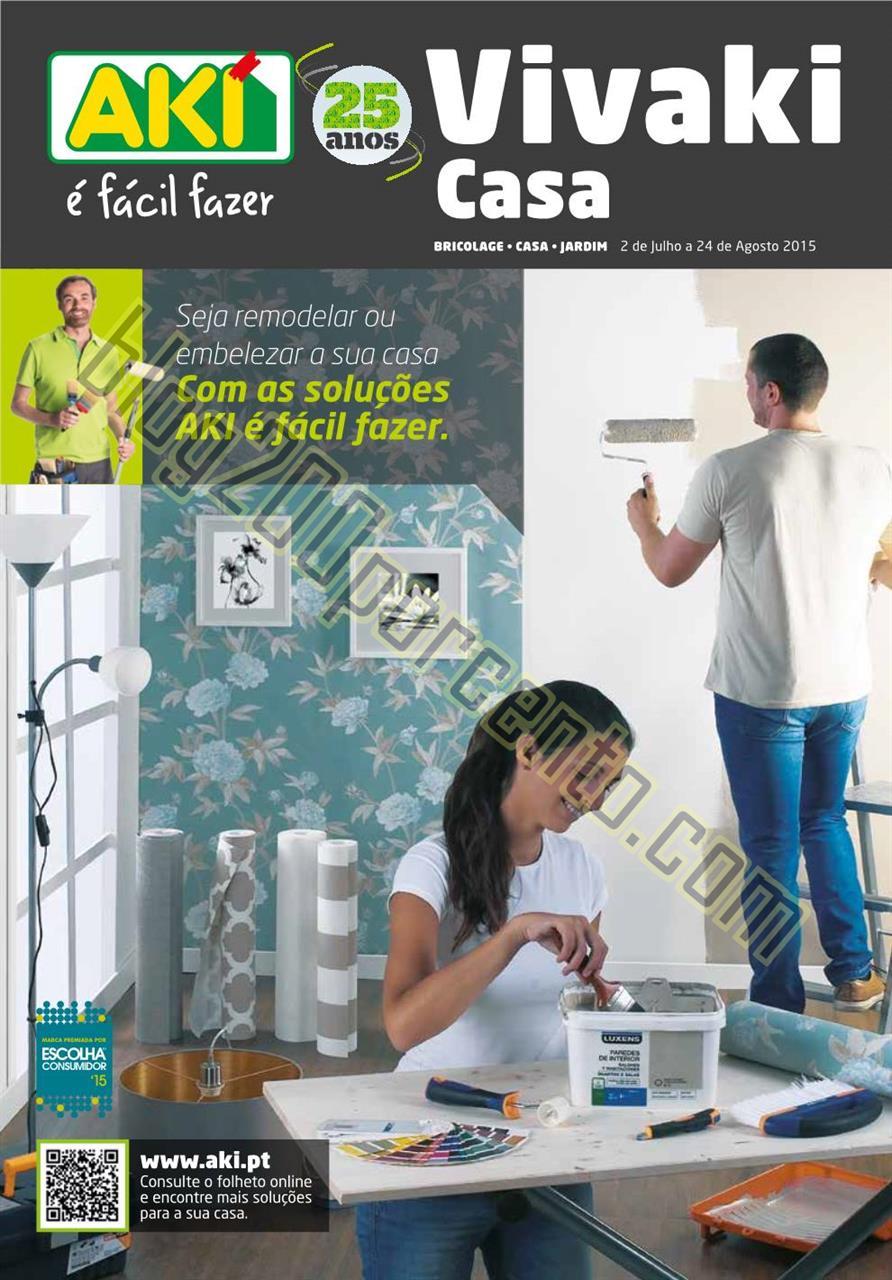 Novo Folheto AKI Casa Promoções até 24 agosto p